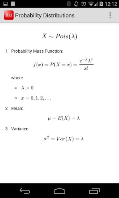 Probability Distributions screenshot 3