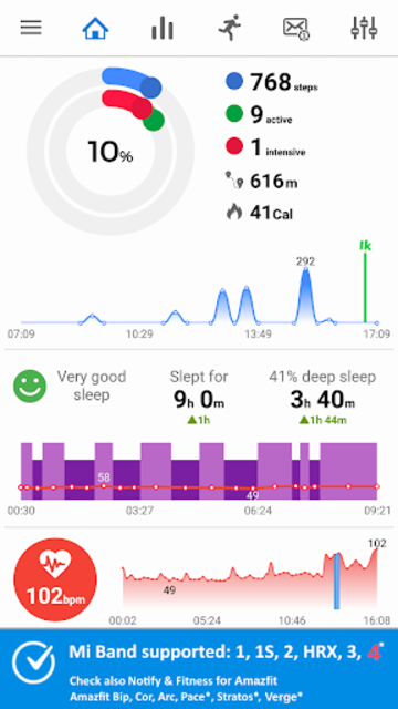 Notify & Fitness for Mi Band screenshot 1