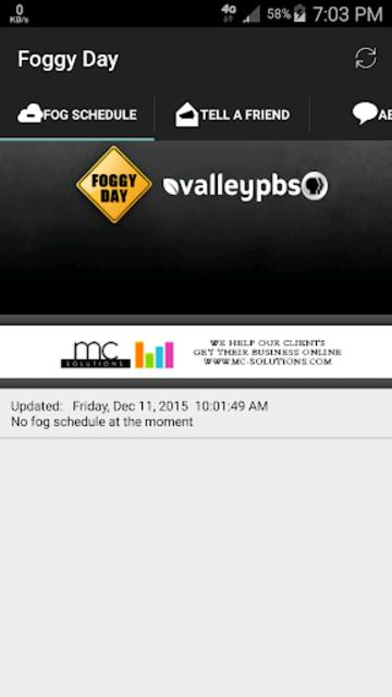 Fog Delay Schedule screenshot 1