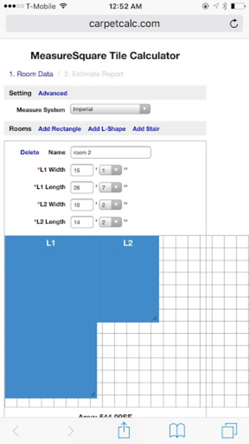 MeasureSquare Tile Calculator screenshot 2