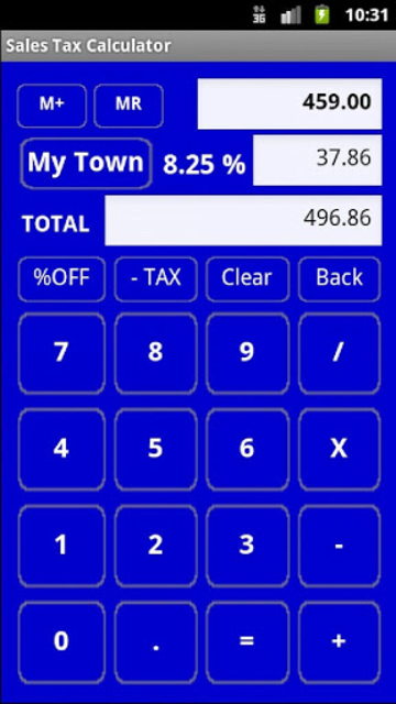 Sales Tax Discount Calculator screenshot 1
