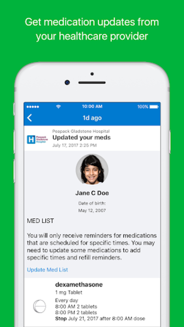 MyMedSchedule Plus screenshot 1