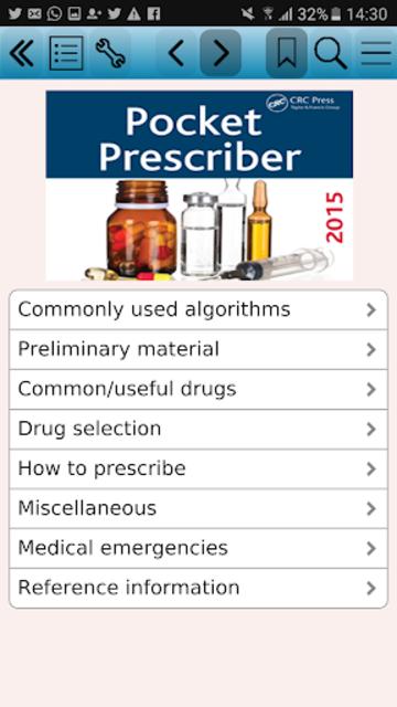 Pocket Prescriber 2015 screenshot 1