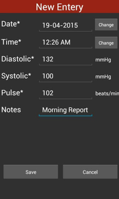 Blood Pressure Checker Diary - BP Info -BP Tracker screenshot 7