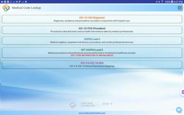 Medical Code Lookup screenshot 9