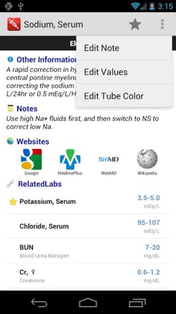 Pocket Lab Values screenshot 5