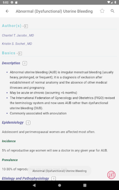 5 Minute Clinical Consult 2019 (5MCC) App screenshot 18