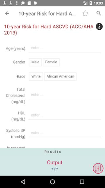 Clinical Calculator PLUS screenshot 3
