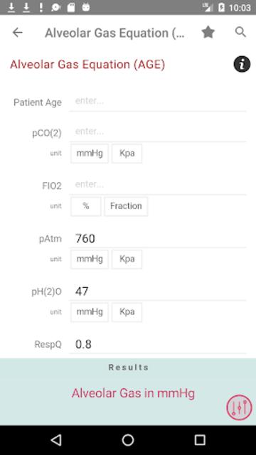 Clinical Calculator PLUS screenshot 4