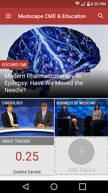 Medscape CME & Education screenshot 1