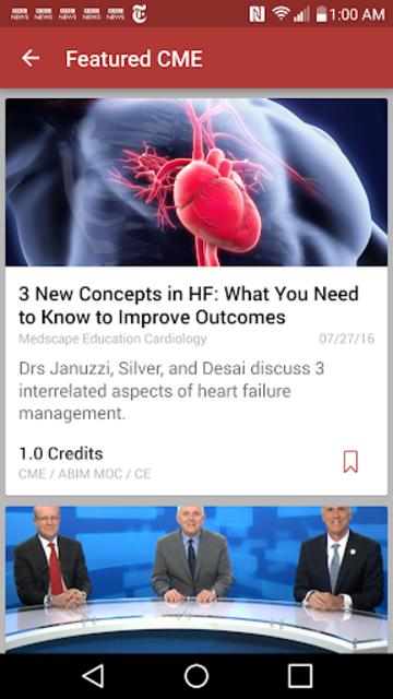 Medscape CME & Education screenshot 2