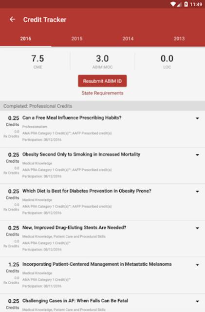 Medscape CME & Education screenshot 13