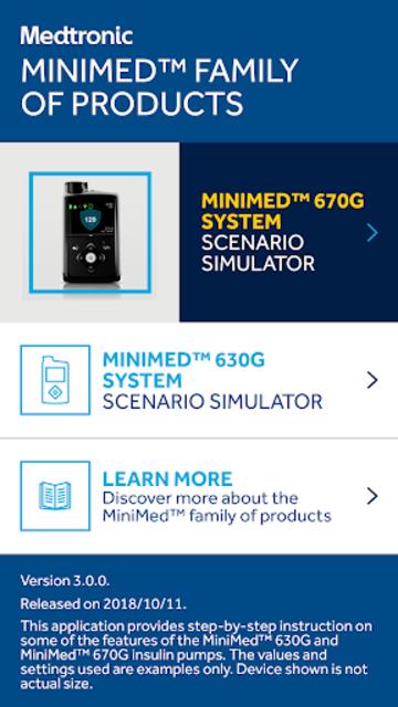MiniMed™ 670G System Simulator screenshot 1