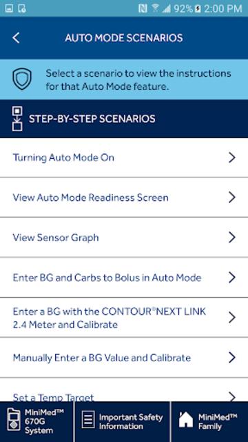 MiniMed™ 670G System Simulator screenshot 3