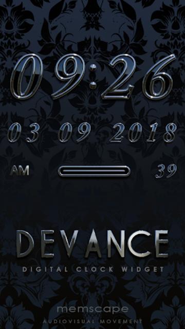 DEVANCE Digital Clock Widget screenshot 1