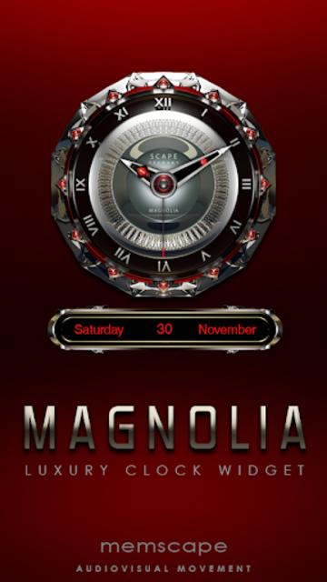MAGNOLIA Analog Clock Widget screenshot 1