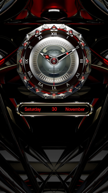 MAGNOLIA Analog Clock Widget screenshot 3