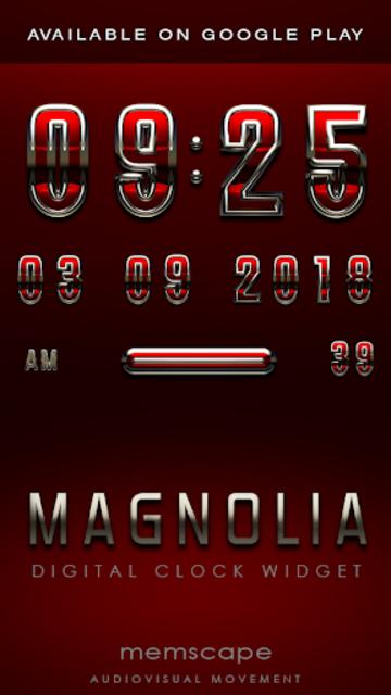 MAGNOLIA Analog Clock Widget screenshot 4
