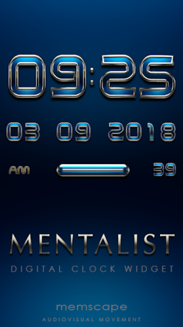 MENTALIST Digital Clock Widget screenshot 1