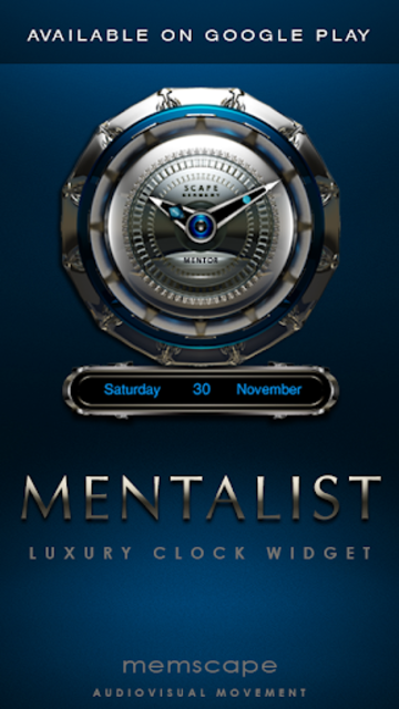 MENTALIST Digital Clock Widget screenshot 4