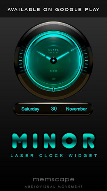 MINOR Digital Clock Widget screenshot 4