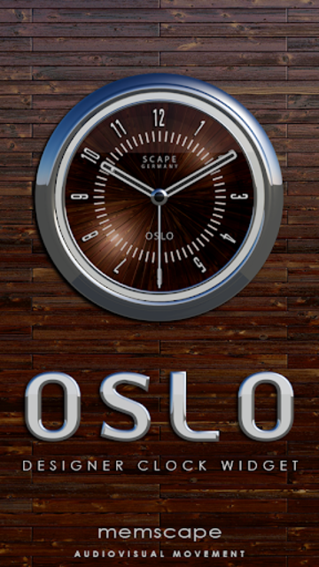 OSLO Analog Clock Widget screenshot 1