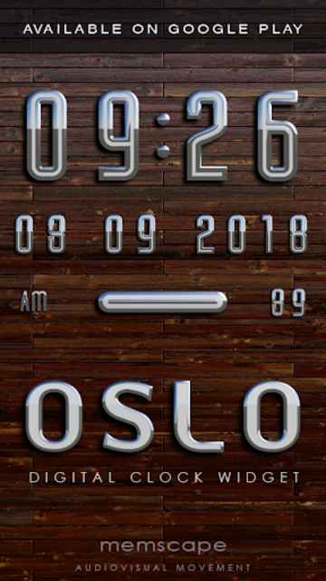 OSLO Analog Clock Widget screenshot 4