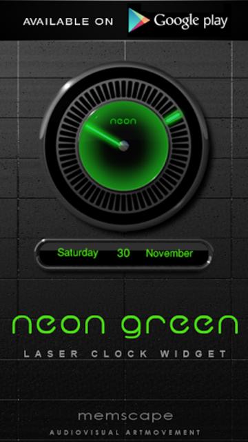 NEON GREEN Digi Clock Widget screenshot 3