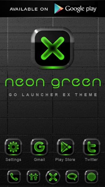 NEON GREEN Digi Clock Widget screenshot 4