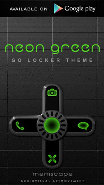 NEON GREEN Digi Clock Widget screenshot 5