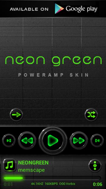 NEON GREEN Digi Clock Widget screenshot 6