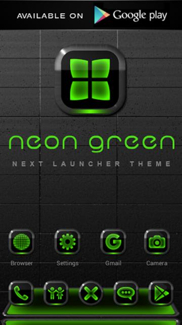 NEON GREEN Digi Clock Widget screenshot 7