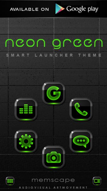 NEON GREEN Digi Clock Widget screenshot 8