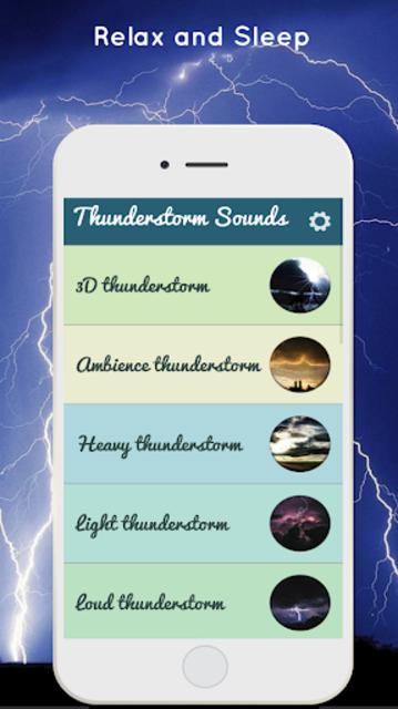 Thunderstorm Sound - Relaxing screenshot 1