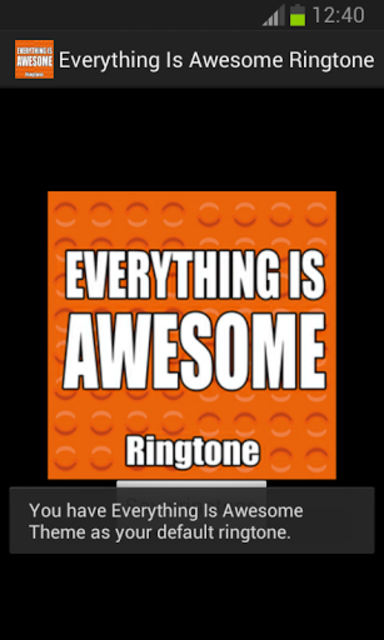 Everything Is Awesome Ringtone screenshot 2