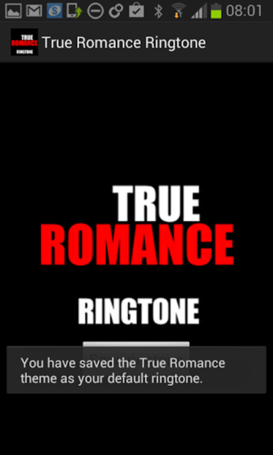 True Romance Ringtone screenshot 2