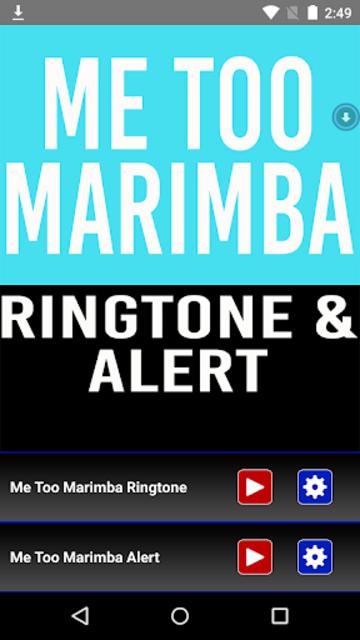 Me Too Marimba Ringtone screenshot 1