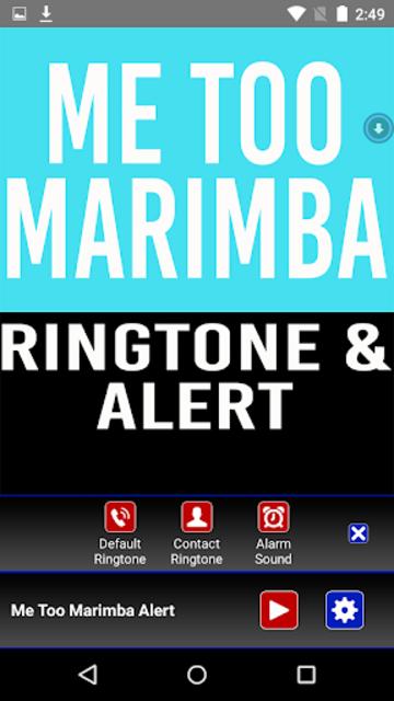 Me Too Marimba Ringtone screenshot 2