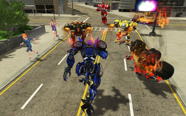Grand Robot Car Transformation Wild Bear screenshot 2