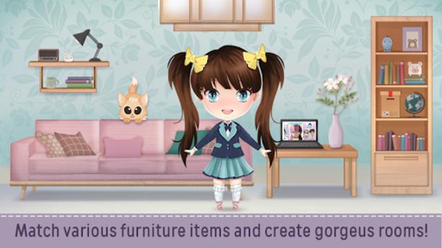 Anime Doll House Decoration Games screenshot 2