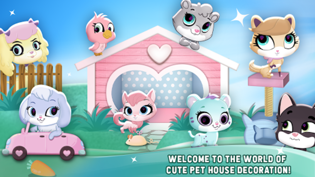 My Cute Pet House Decorating Games screenshot 1