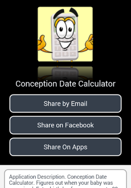 Conception Date Calculator screenshot 5