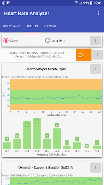 Heart Rate Analyzer screenshot 3