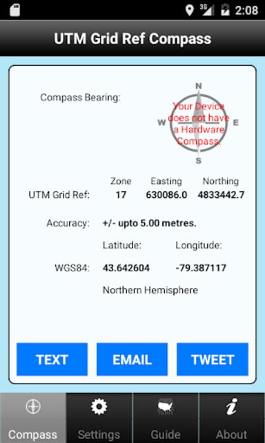 UTM Grid Ref Compass screenshot 4