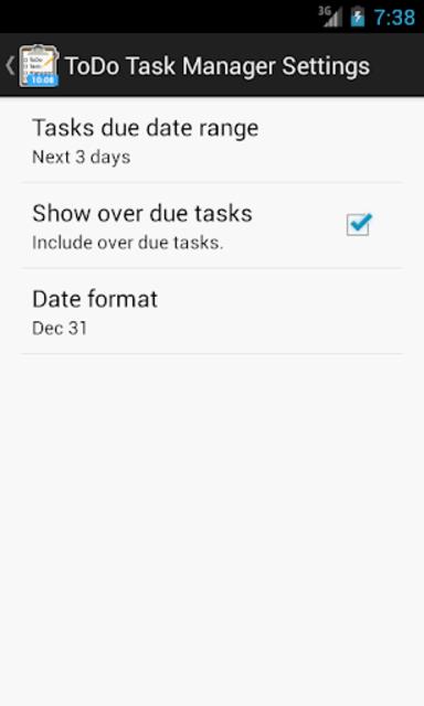 DashClock - ToDo Task Manager screenshot 2