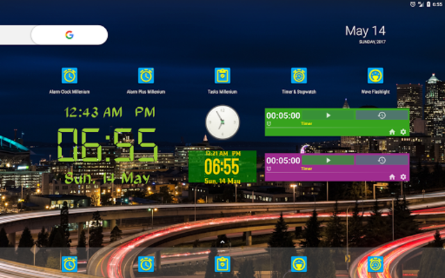 Alarm Clock & Timer & Stopwatch & Tasks & Contacts screenshot 16
