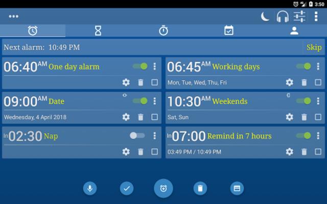 Alarm Clock & Timer & Stopwatch & Tasks & Contacts screenshot 17