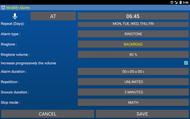 Alarm Clock & Timer & Stopwatch & Tasks & Contacts screenshot 18