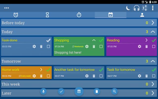 Alarm Clock & Timer & Stopwatch & Tasks & Contacts screenshot 21