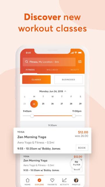 Mindbody: Fitness & Workout App screenshot 1
